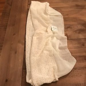 Nordstrom BP, Infinity Scarf, lacy cream colored